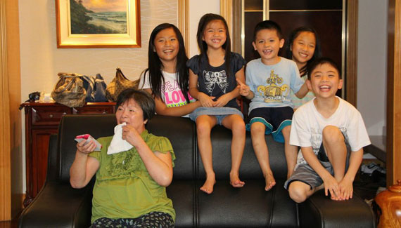 Ming Chi and Grandkids