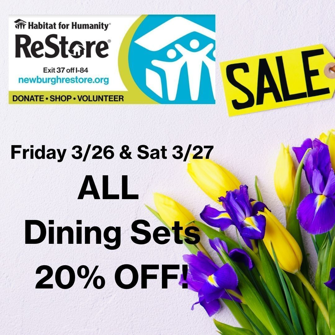 Dining Set Sale at ReStore - Friday 3/26 & Saturday 3/27