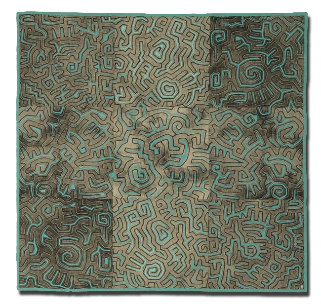'Le Labyrinthe Des Signes (Pictographic)', made by Anne Woringer, made in Paris, France, dated 2006, 39.25 x 40.5 in, IQSCM 2008.022.0001