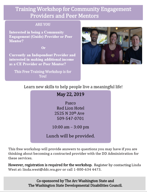 Training Workshop for Community Engagement Providers and Peer Mentors