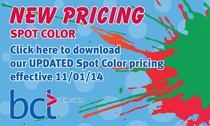 NEW SPOT COLOR PRICING