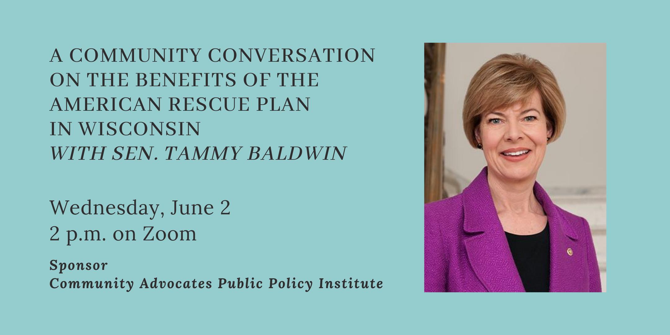 Sen. Tammy Baldwin on American Rescue Plan