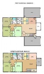 First & Upper Floor Plan - Building B