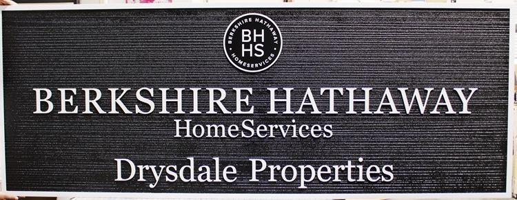 """C12279 - Carved and Sandblasted Wood Grain HDU Sign for """"Berkshire Hathaway Home Services"""""""