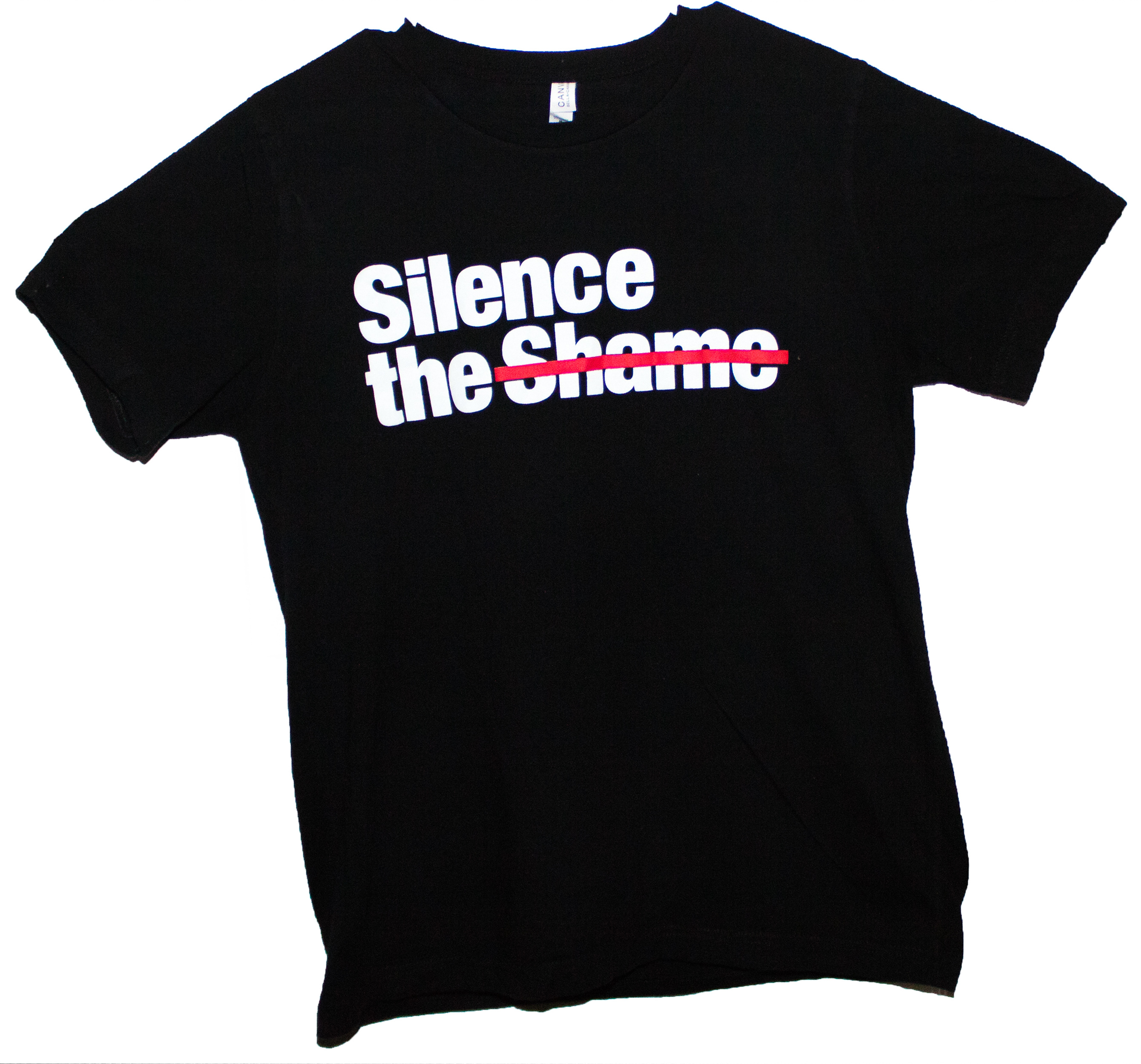 Silence the Shame Signature Black Youth T-Shirt L