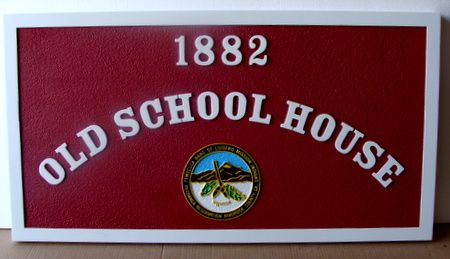 FA15806 -Carved  Old School House Sign