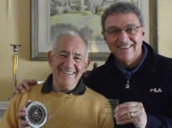 In late 2010 and early 2011, Dr. David Kahn donated additional cryptologic items to the NCMF - he is pictured here with the NCMF's David D'Auria