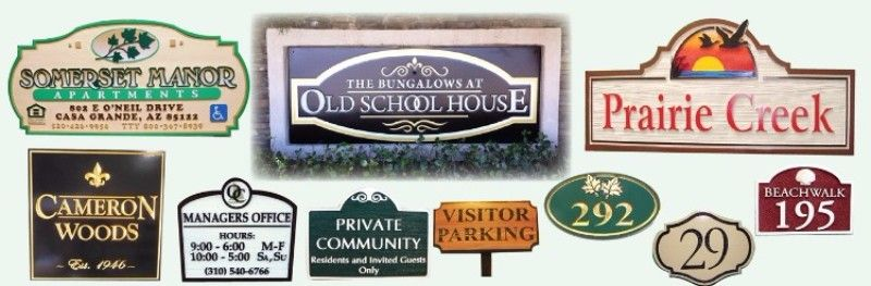 Carved Wood and HDU Signs