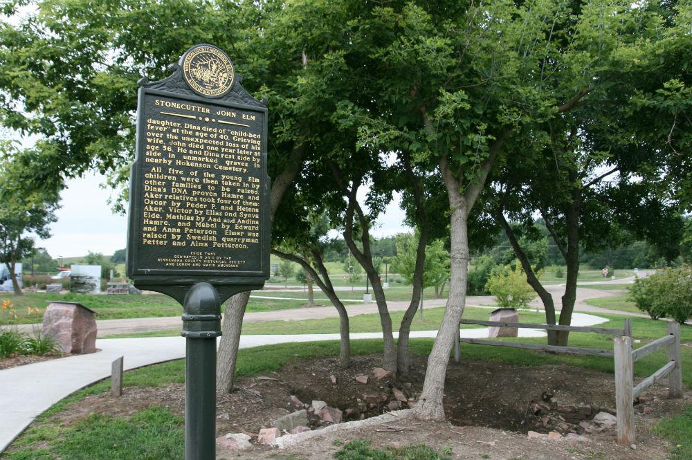 John Elm historical marker (back)