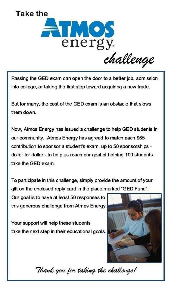 Take the Atmos Energy Challenge!