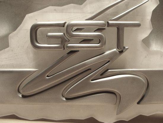 M7277 - Shiny Aluminum-Coated  3D Car Logo