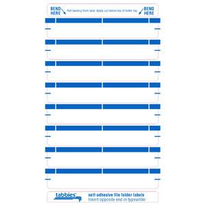 59431 - Blue Color Bar Name Labels