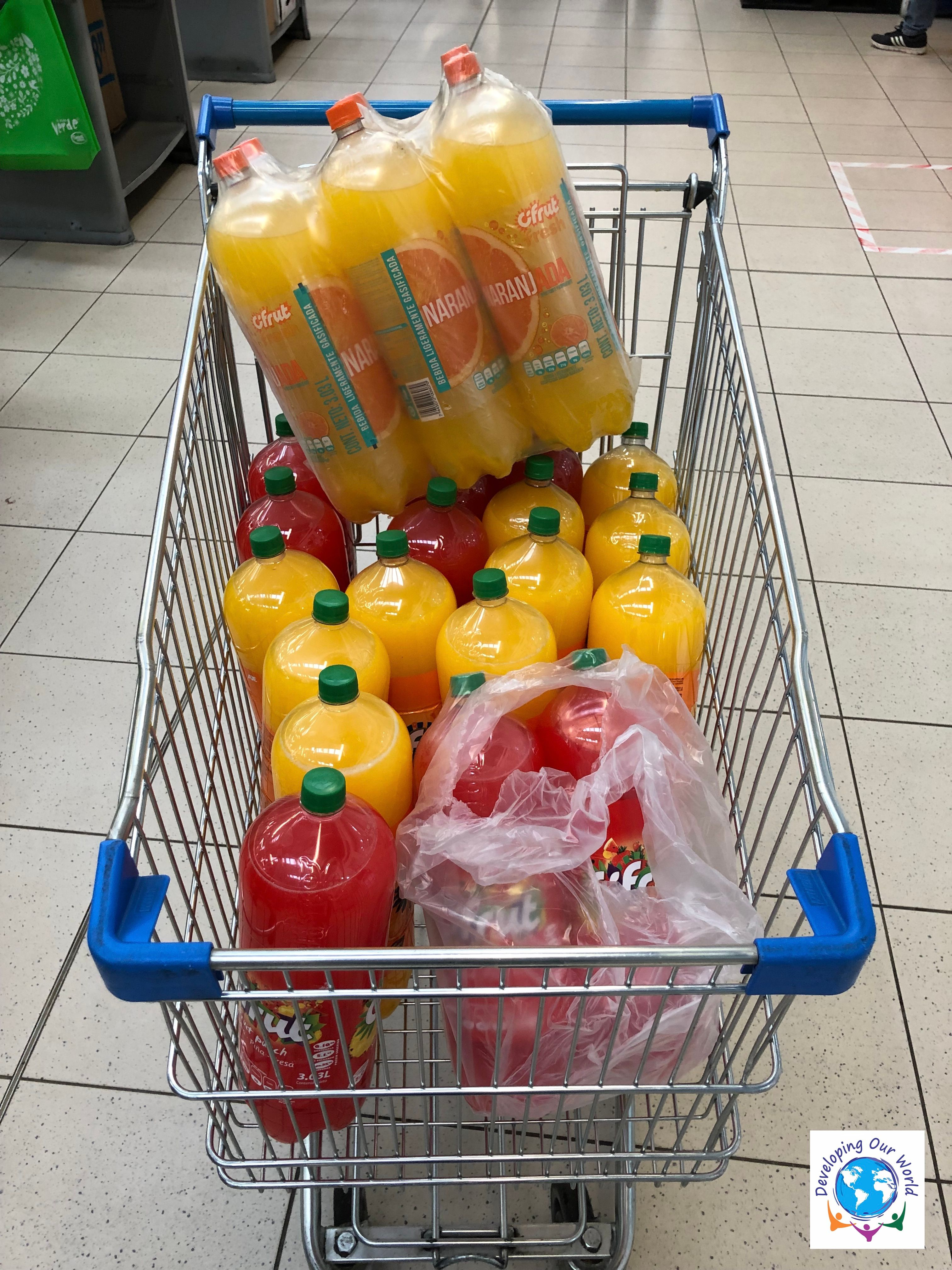 79 liters of orange and strawberry