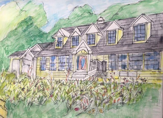 Artist: Janet Fink, Pen & Ink Watercolor on Paper