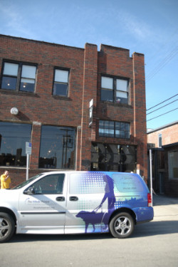 TWP van parked in front of the Missouri office