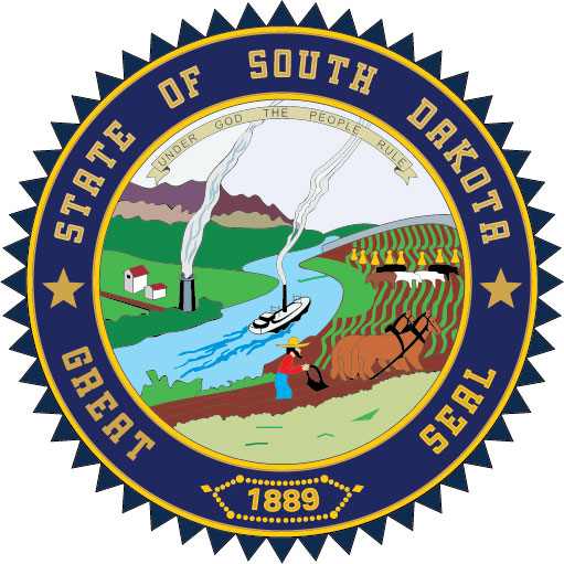 W32460 -  Seal of the State of South Dakota Wall Plaque