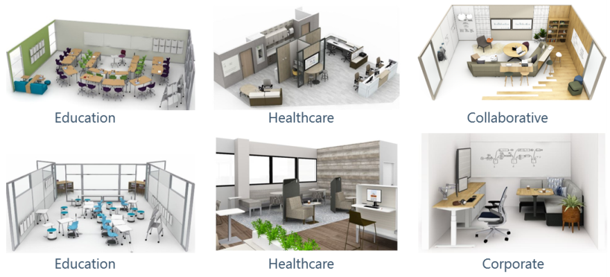 Various Design Layouts - 3D Renders