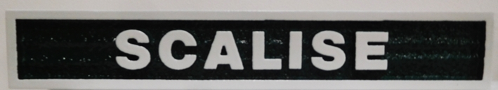 """P25429 - Carved  Horse Stall Sign with Horse Name """"Scalise"""""""