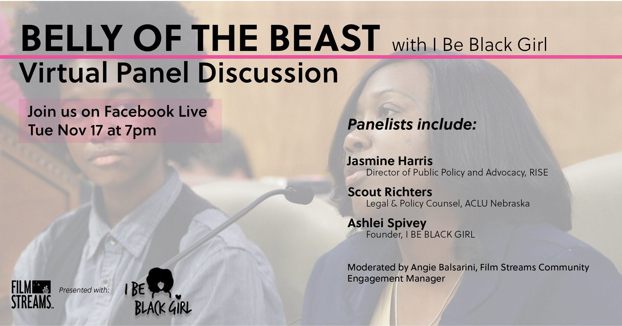 Virtual Panel Discussion: Belly of the Beast with I Be Black Girl