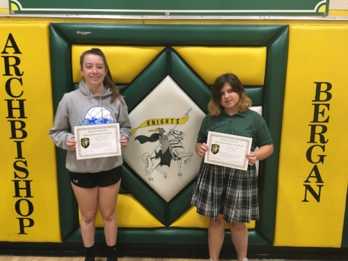 October - Knight's Code Students of the Month