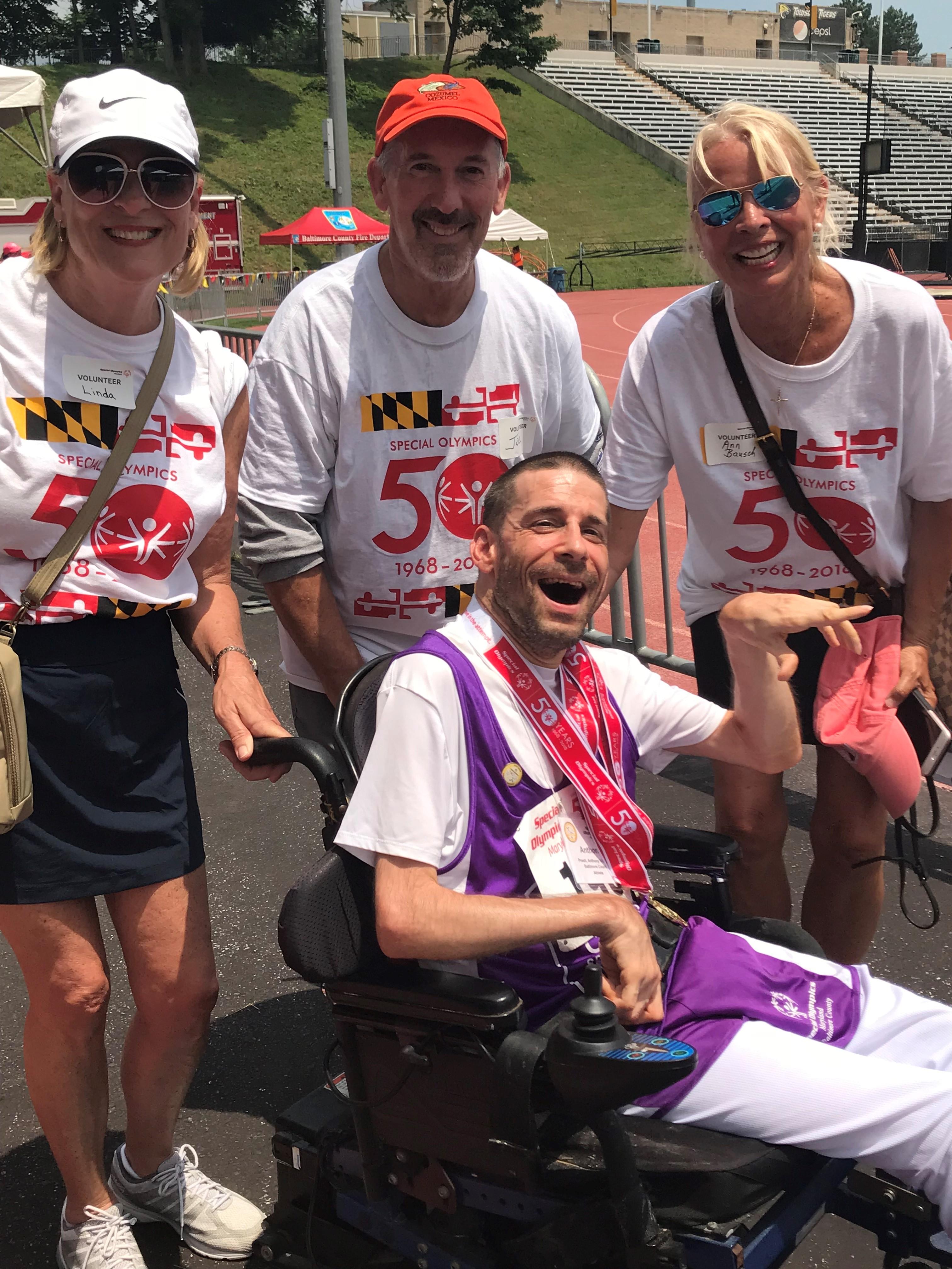 Tony! at Special Olympics