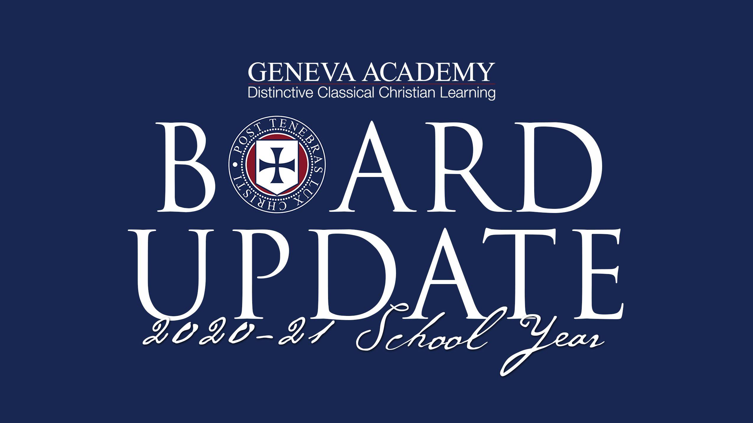 Board Update | July 2020