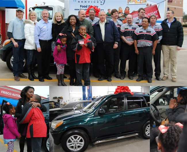 Frisco Family Services Client Receives a New Car Just in Time for the Holidays as a part of #GivingTuesday!