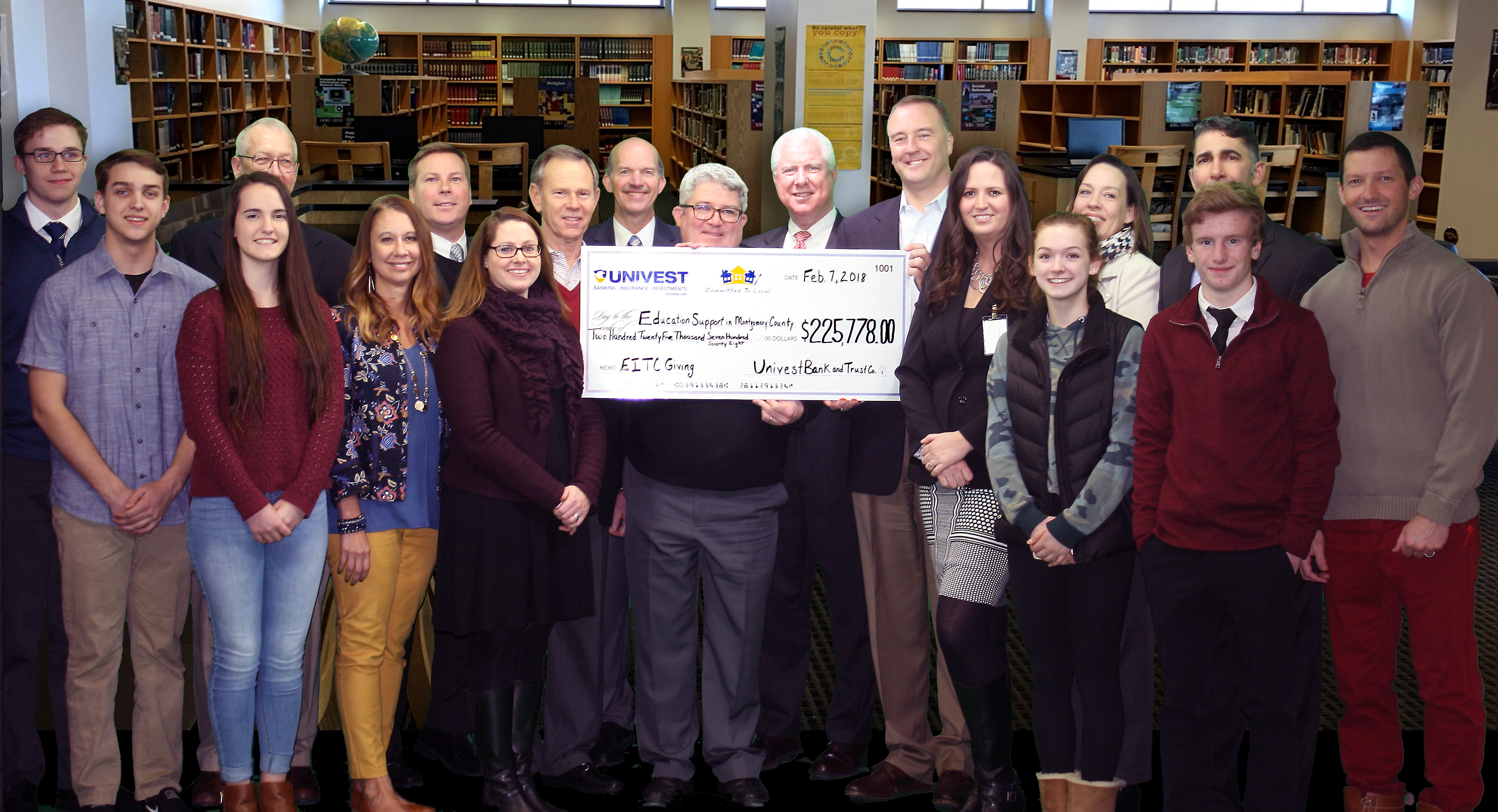 Univest Provides $225,778 to Schools and Scholarship Programs in Montgomery County