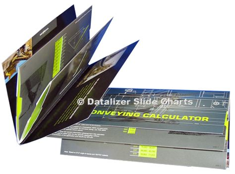 2 Hinged Slide Charts: 4 working panels & 2 covers
