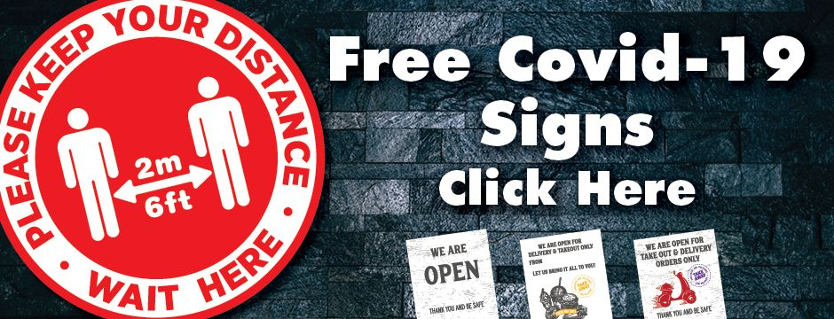 Free COVID-19 Signage