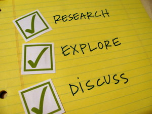 Checklist: Research, Explore, Discuss