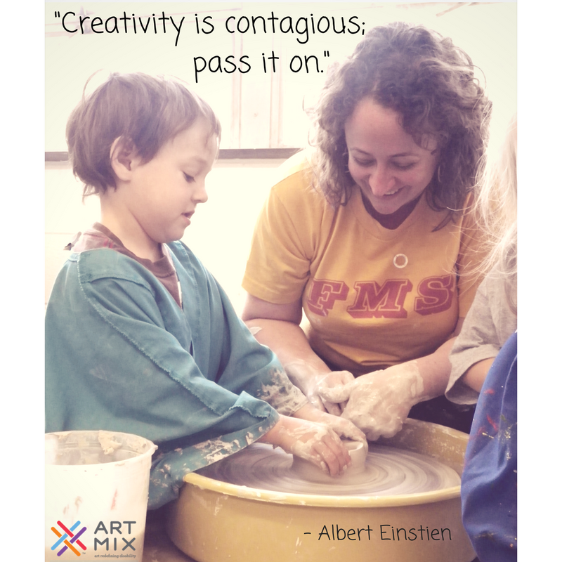 """Creativity is contagious, pass it on."""
