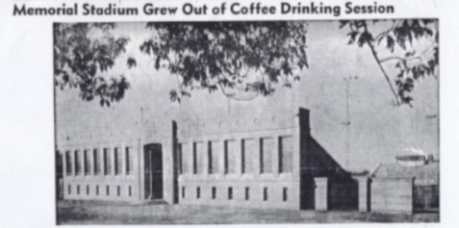 Memorial Stadium Grew Out of Coffee Drinking Session