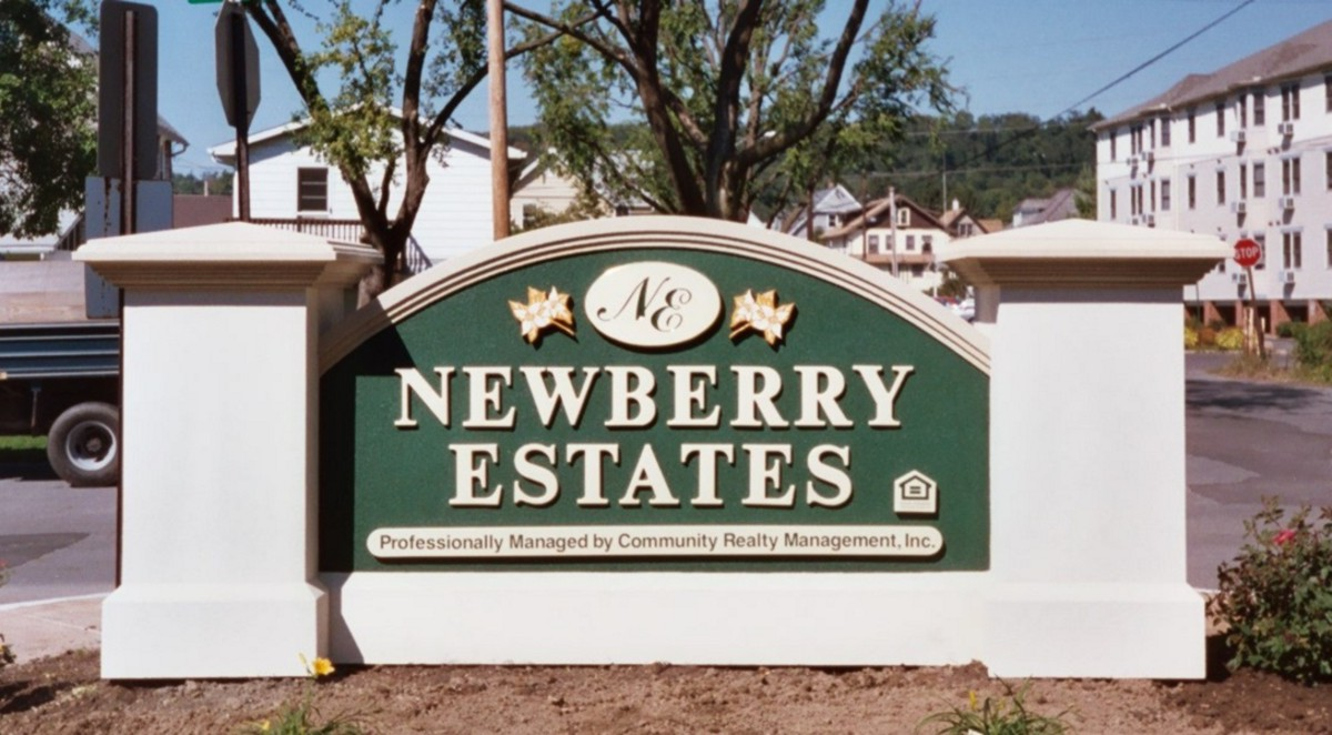 K20017 - EPS Monument Sign for Newberry Estates, wuth Side Pillars
