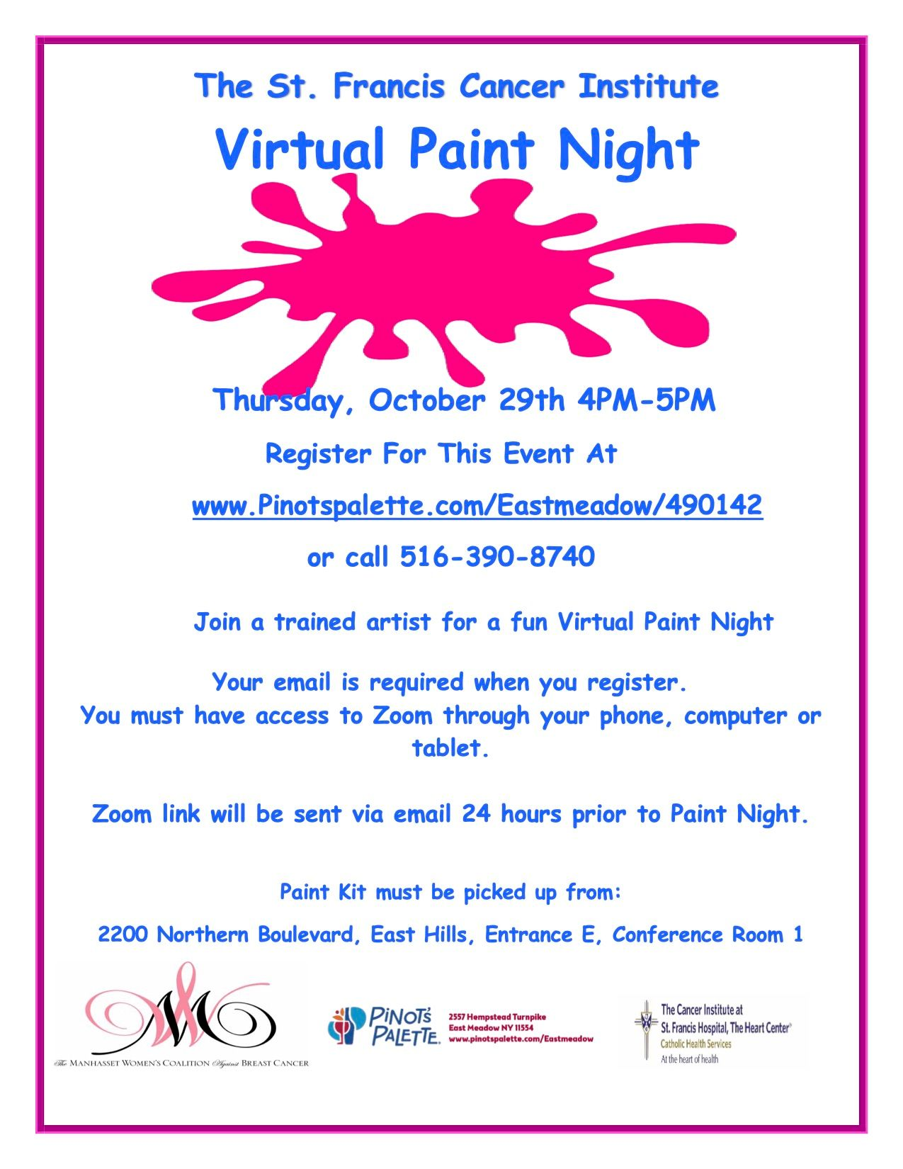 St.Francis Cancer Institute Virtual Paint Night