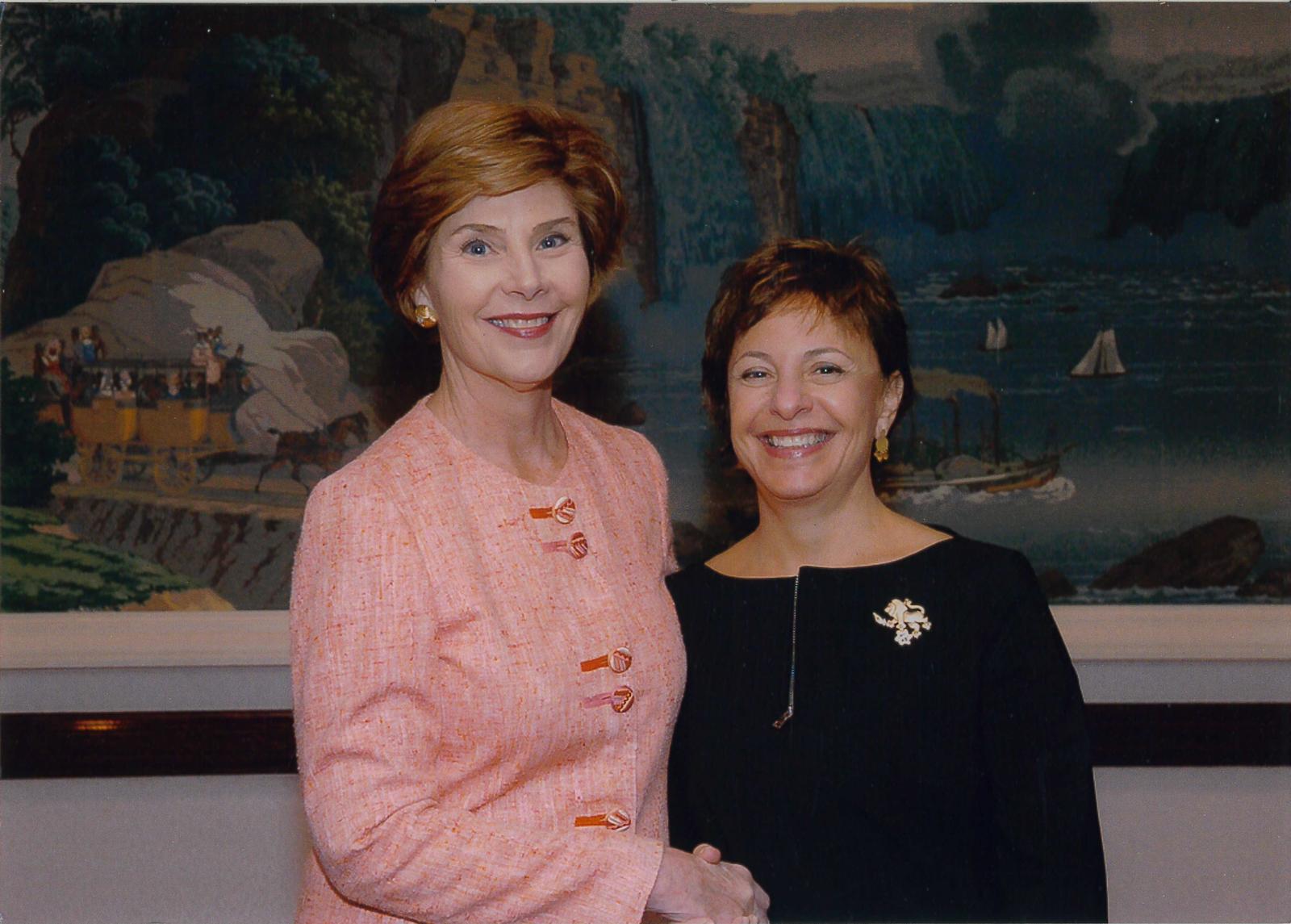 Laura Bush and Michele Rosen, 2005.