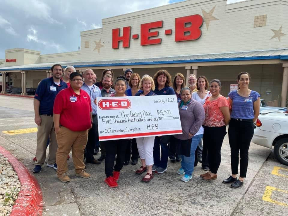 The Caring Place wins $5,500 from HEB Anniversary Celebration