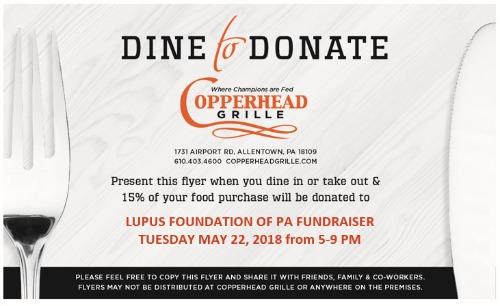 Copperhead Grille Fundraiser - Allentown