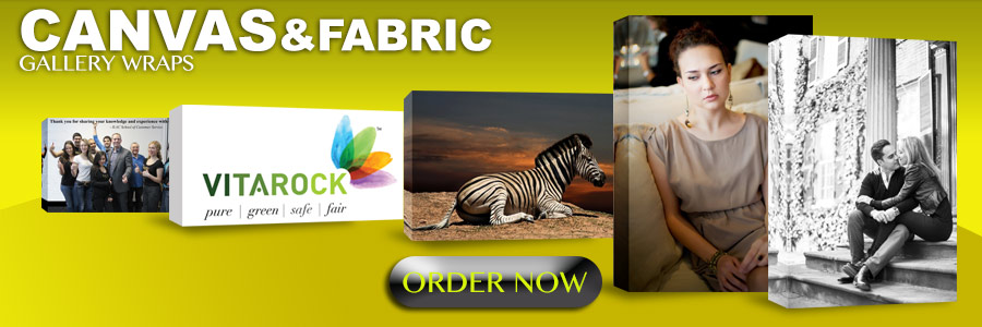 CANVAS AND FABRIC GALLERY WRAPS