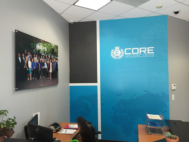 Lobby wall graphics and murals Orange County