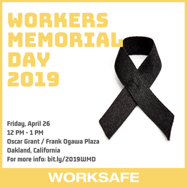 April 26, 2019 - Workers Memorial Day 2019
