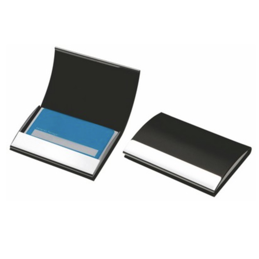 Leatherette / Stainless Steel Business Card Case