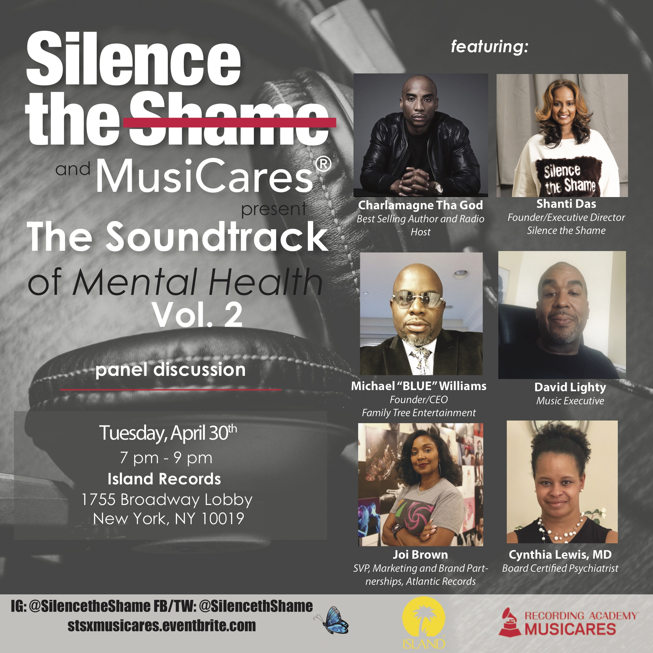 Silence the Shame and MusiCares Present the Soundtrack of Mental Health Part 2