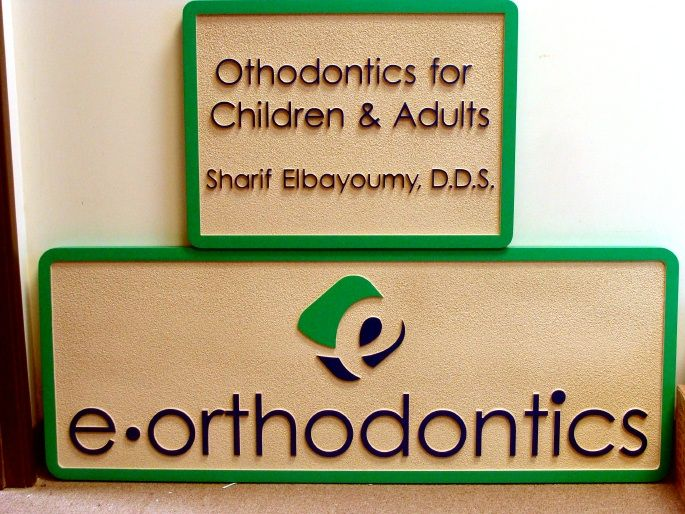 BA11645 – Sandblasted Children's (Pediatric) Orthodontic Dentistry HDU Door or Wall Signs