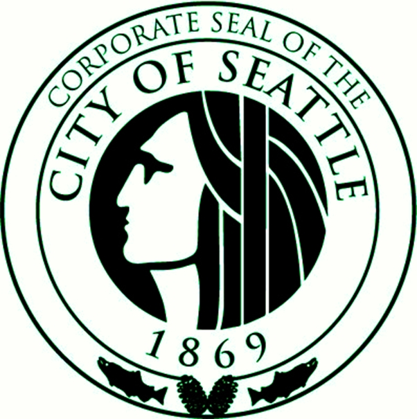 DP-2100 - Carved Plaque of the Seal of the City of Seattle, Washington,  Artist Painted