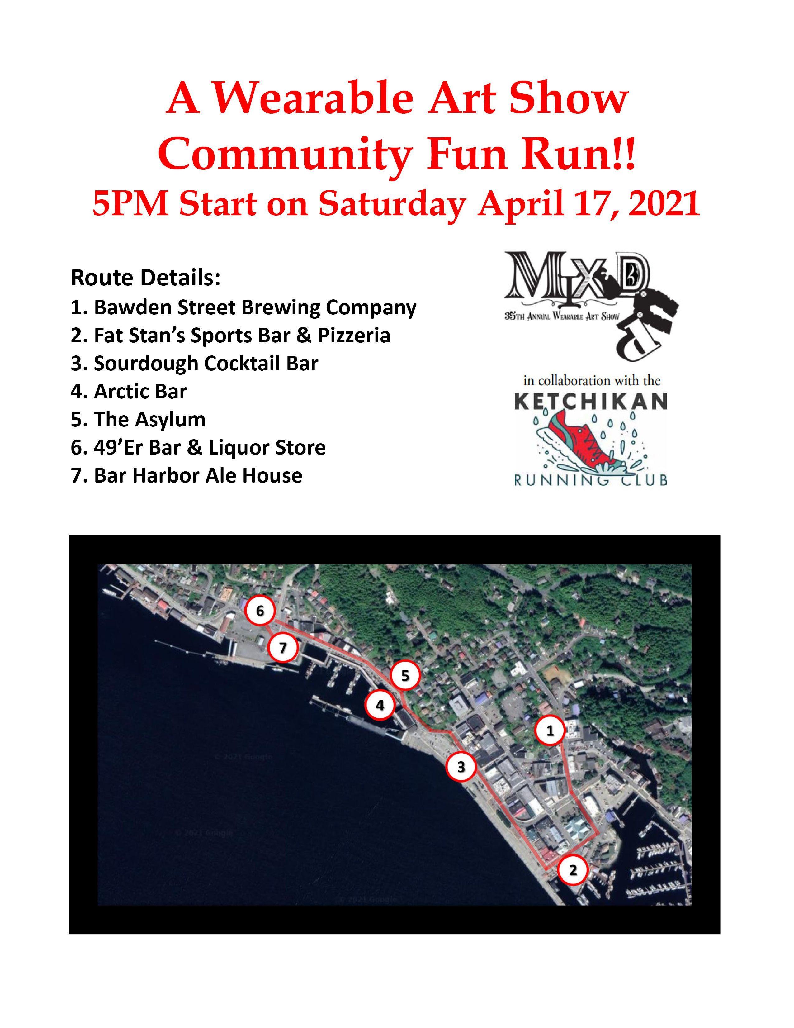 Download Wearable Art Community FUN RUN MAP