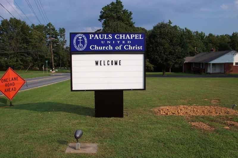Church Lit sign