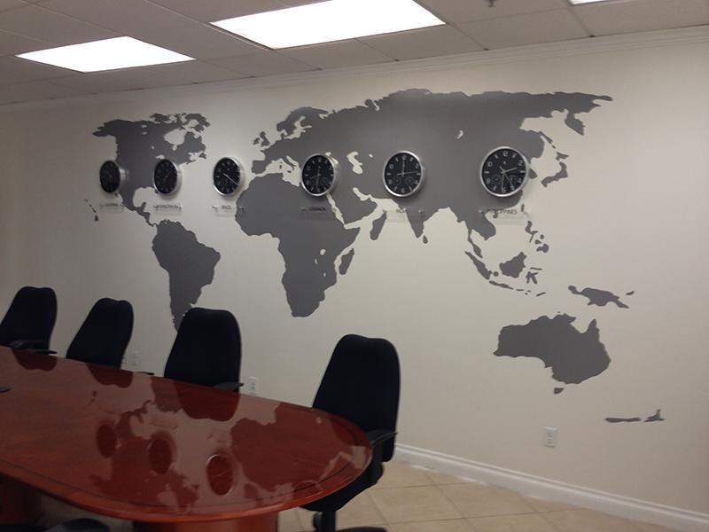 Vinyl Wall Map