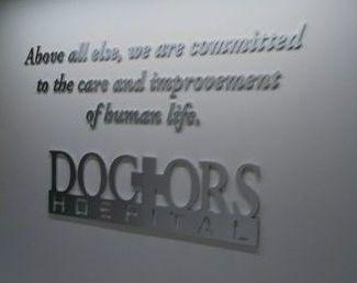 Doctor Hospital Aluminum Letters