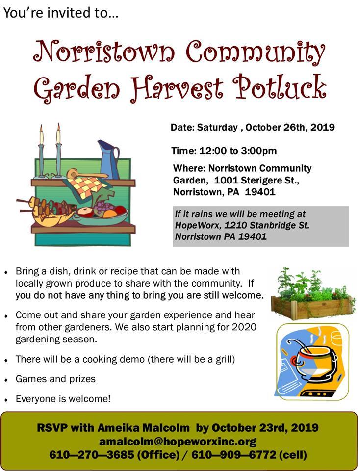 Norristown Community Garden Harvest Potluck